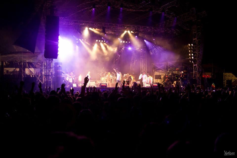 Le groupe Black Roots en action sur la grande scène!