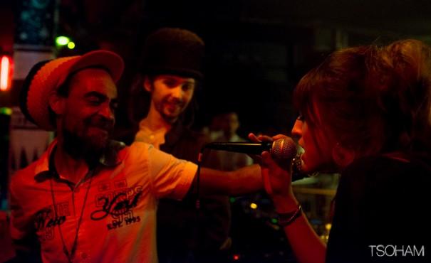 Venue de Genève avec Iron Dubz, la jeune chanteuse Sis I-Leen, a assuré au micro!