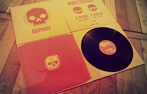 Pressé à 500 copies, le vinyle bénéficie d'une artwork soigné!