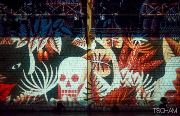 Une fresque géante de l'artiste Kazy colorait tout un mur de l'OBF hall!