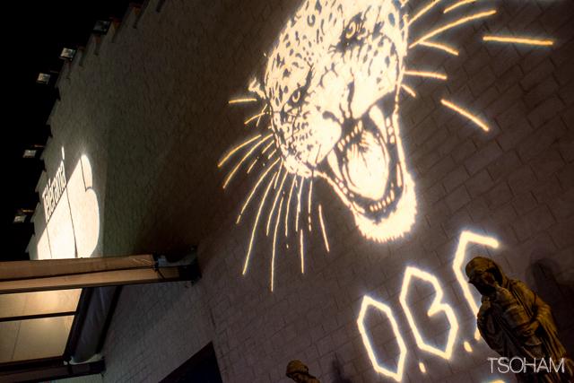 """Le visuel du dernier album d'OBF, """"Wild"""", trône à l'entrée du hall!"""