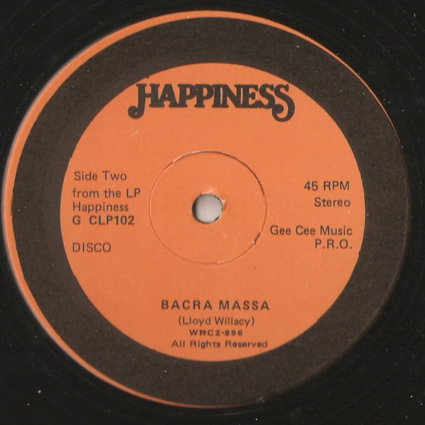 Le 45T original sorti sur le label Happiness.