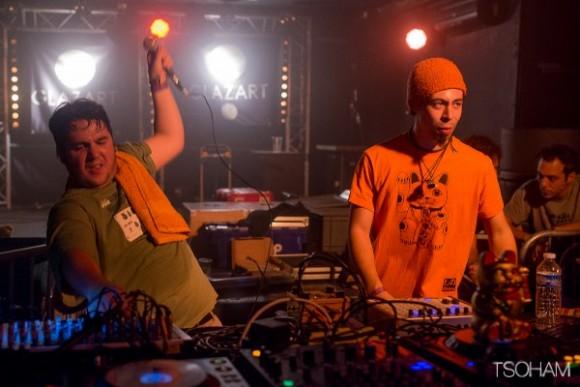 Toinou (à gauche) et Joris, en plein live au Glazart lors de la Paris Dub Sessions #2.