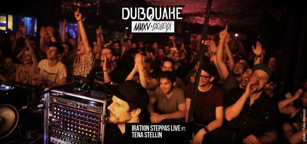 Le public bien chaud devant Iration Steppas, en configuration live, samedi 18 avril.