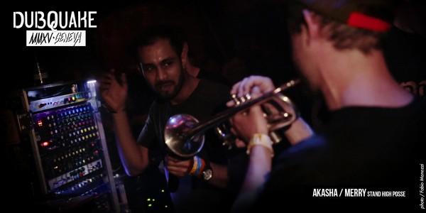"""Akabash et Merry à la trompette pour la folie du """"Duquake all stars"""", en fin de nuit!"""