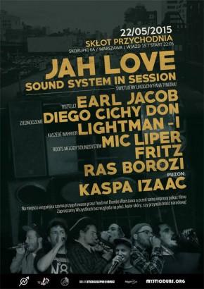 L'affiche de la dernière session du Jah Love, le 22 mai dernier, à Varsovie!