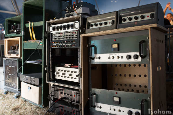 Les machines de Jah Marshall sound system.
