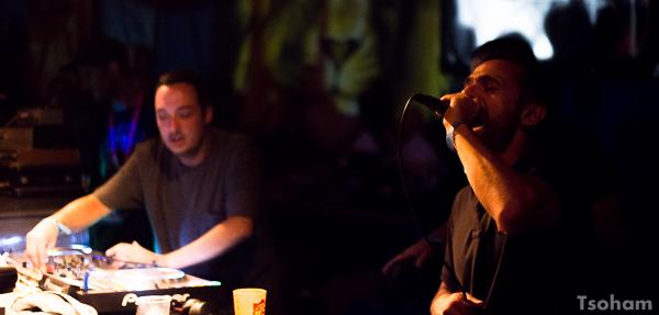 OBF (ici Rico) et Shanti D jouaient aussi dans le Dub Club bien sonorisé par le sound breton, Kürün Positive Bassline.