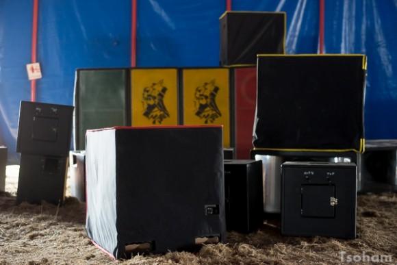 L'installation des sound systems le matin même!