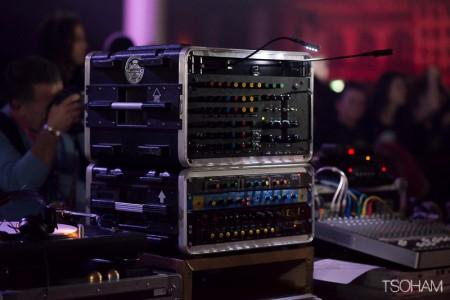 La tour de contrôle du Stand High Patrol sound system !