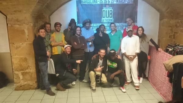 Tous les artistes présents ce soir-là pour la Launch Party du festival barcelonais, International Dub Gathering.