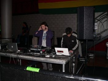 Jean-Seb du label Hammerbass (à gauche) et Fedayi Pacha.